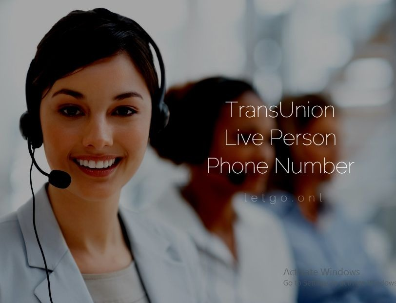 TransUnion Live Person Phone Number