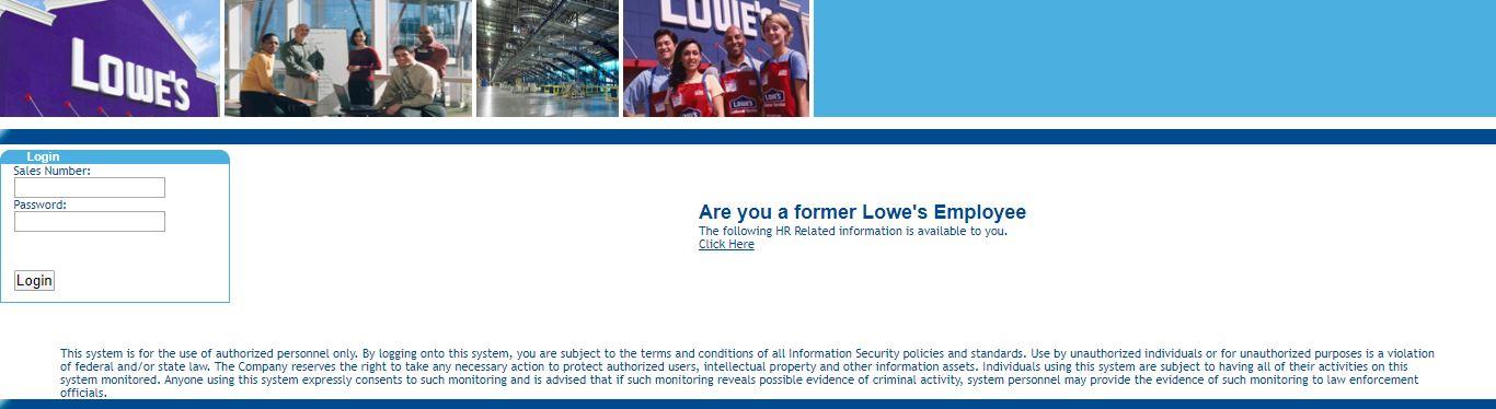 my Lowes employee login